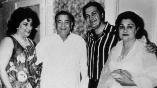 Uma Chopra, Raj Kapoor, Prem Chopra and Krishna Raj Kapoor