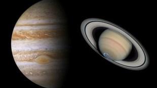 Saturn And Jupiter Conjunction, shani and guru yuti, shani planet, guru planet, shani sade sati, makar rashi, meen rashi,