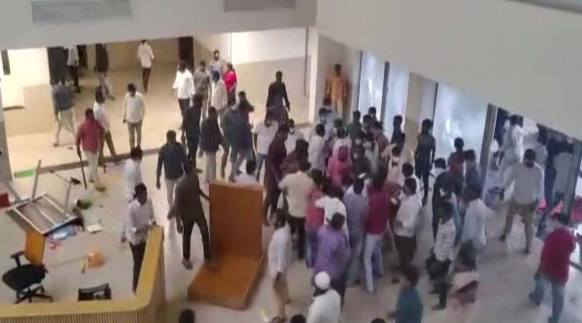 YSRCP workers vandalized TDP central office, attacked On TDP spokesperson K Pattabhi Ram house