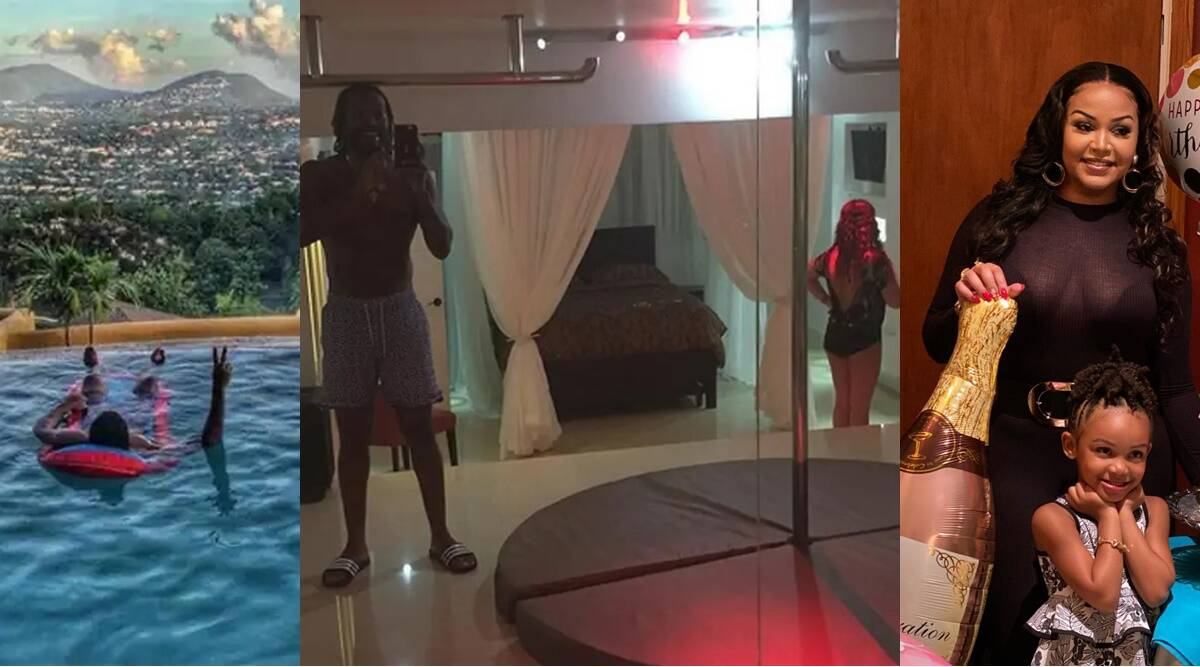 Chris Gayle Partner Girl Friend Natasha Berridge also fond of partying a strip club at Universe Boss Home walls are made of glass glamorous LifeStyle