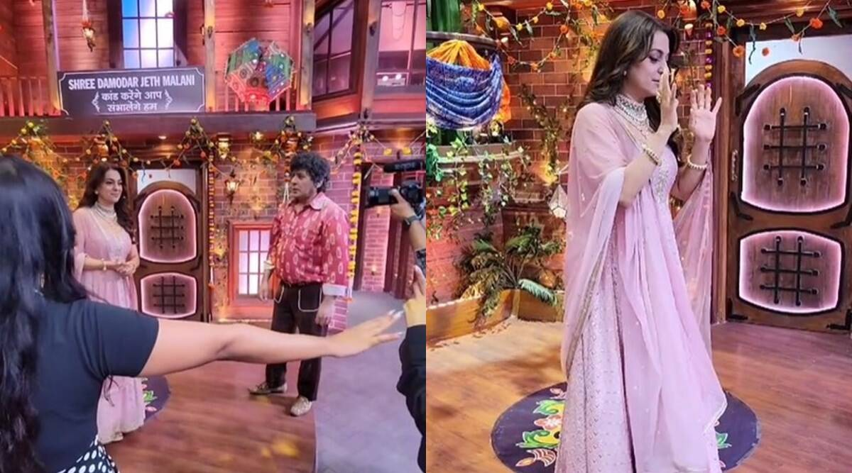 The Kapil Sharma Show: Fumble happened in front of the camera with Juhi Chawla, was talking about the film 'Darr';  watch funny videos