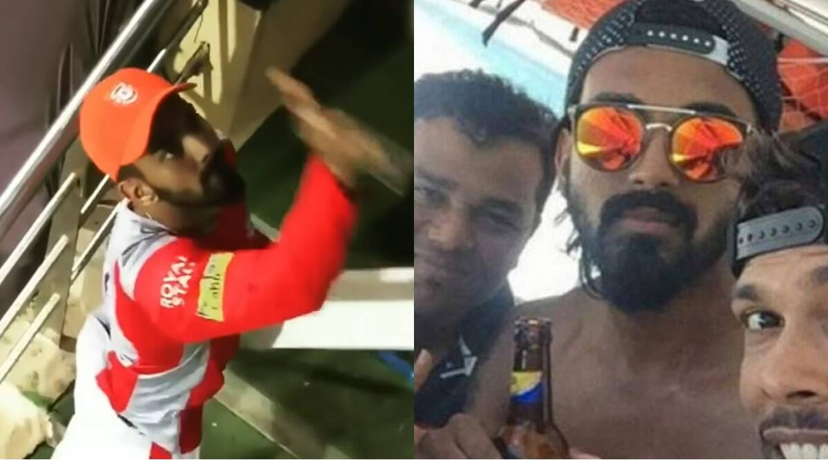 KL Rahul angrily threw his trophy towards fans There was also ruckus for posting photos with beer Social Media BCCI had reprimanded IPL PBKS KXIP IND vs WI