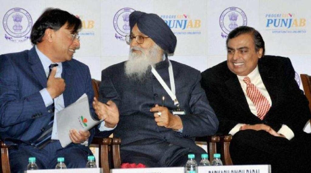 Mukesh Ambani with LN Mittal