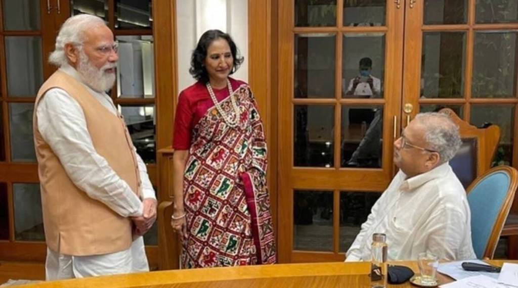 PM Modi Viral photo, pm modi with jhujhunwala