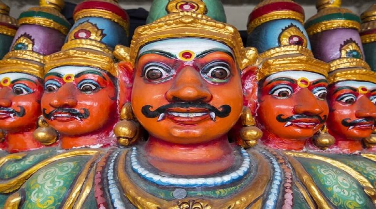 in the mid of festival Ravan was worshiped in a temple in Mathura