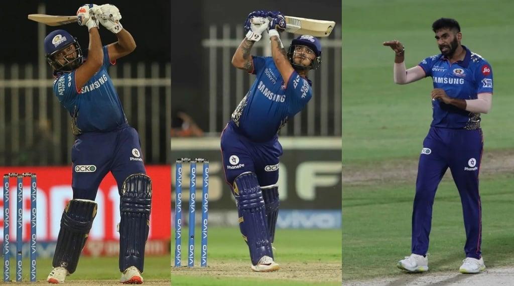 Rohit Sharma Ishan Kishan Jasprit Bumrah Mumbai Indians IPL 2021 MI vs RR RR vs MI