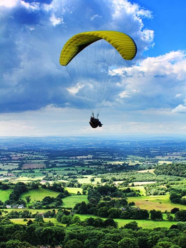 Enjoy paragliding here in India