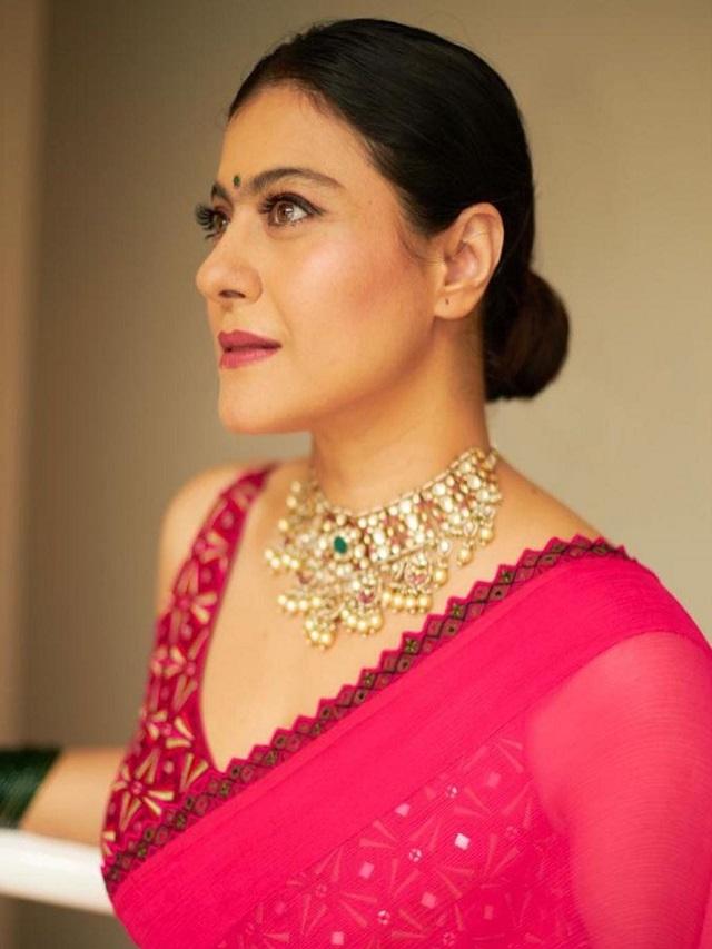 Bengali beauty Kajol's 'Durga Puja look'