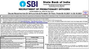 SBI, SBI PO Recruitment 2021, SBI PO Notification 2021, SBI Job 2021