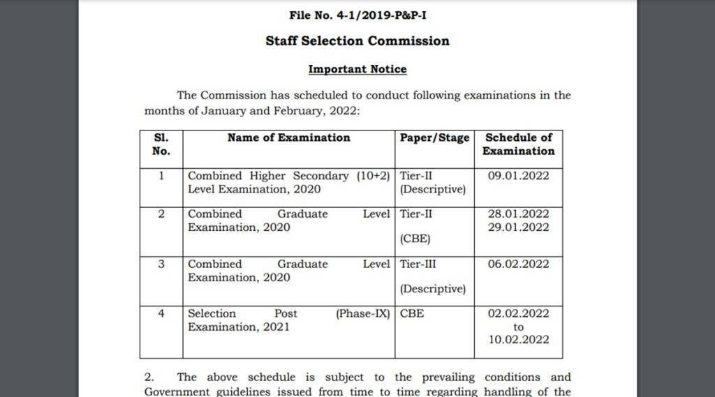 ssc exam schedule, staff selection commisison exam schedule, ssc exam schedule for chsl 2021, ssc nic in, ssc cgl exam 2020