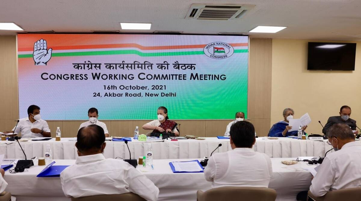 CWC meeting sonia gandhi said to g 23 leaders i am only full time president of congress