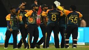 t20-world-cup-2021-srilanka-beats-namibia-easily-by-7-wickets-also-srilankan-players-came-on-ground-with-black-bands