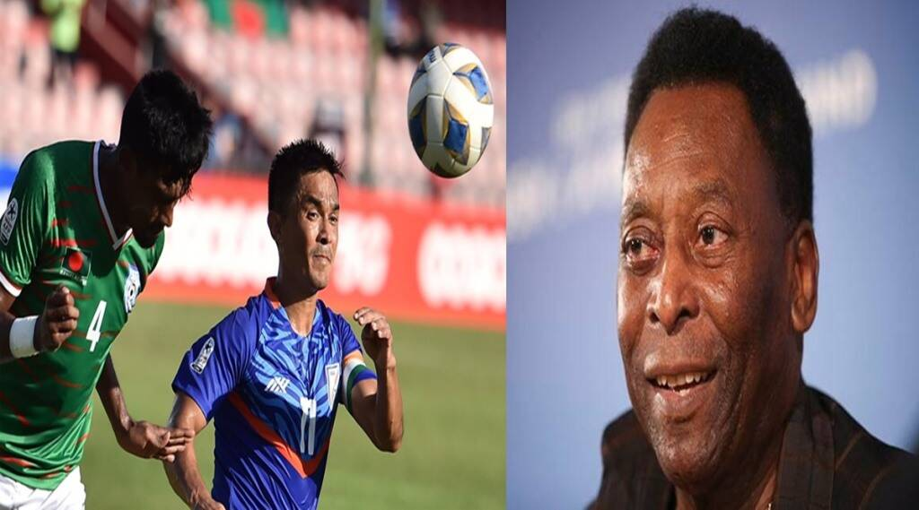 sunil-chhetri-indian-footballer-is-one-international-goal-behind-pele-india-played-draw-with-bangladesh-in-saff-cup-2021-ind-vs-ban