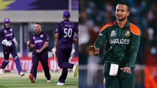 t20-world-cup-2021-scotland-beats-bangladesh-by-6-runs-shakib-al-hasan-becomes-highest-wicket-taker-in-t20-international