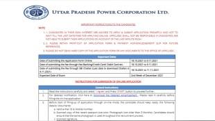 UPPCL Recruitment 2021, UPPCL Recruitment 2021 Notification, UPPCL Recruitment 2021 apply online,