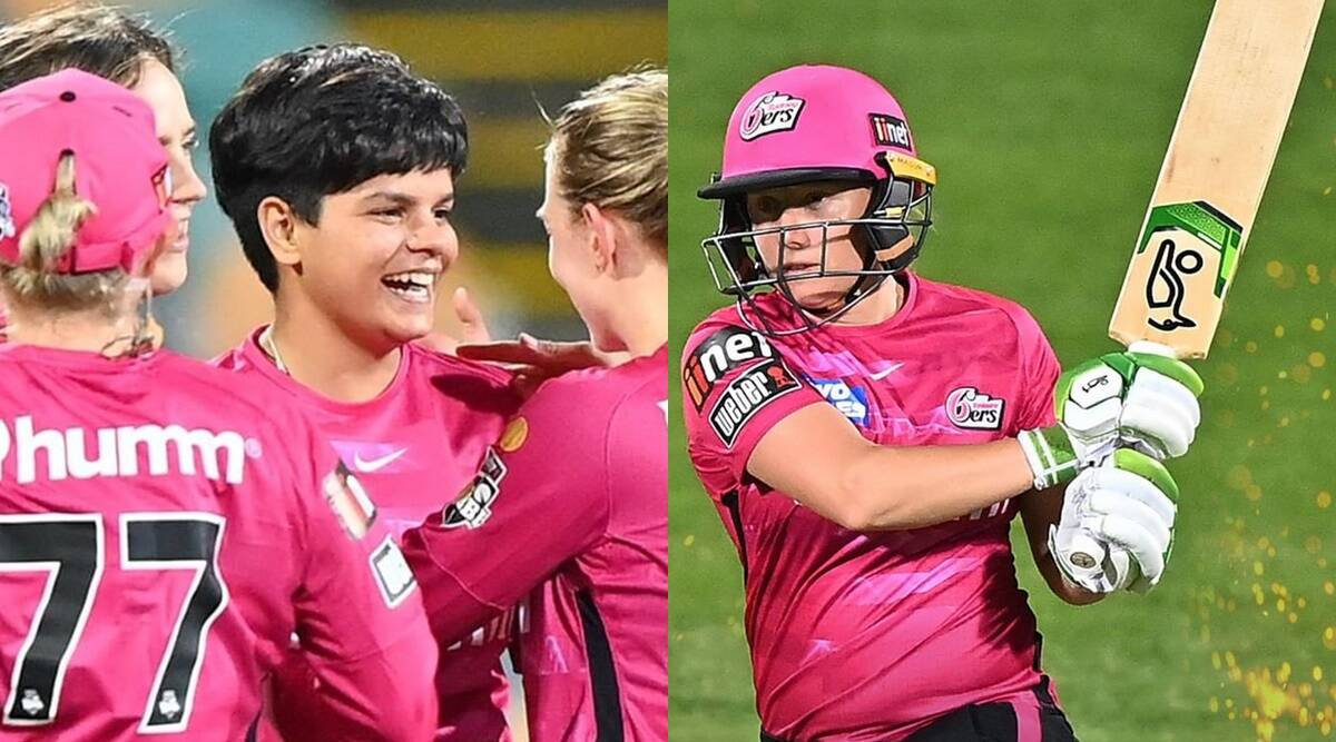 WBBL 2021 On Debut Shafali Verma fail with bat Australian pacer Mitchell Starc wife Alyssa Healy hits 50 in 24 balls Sydney Sixers start with a win Watch Video