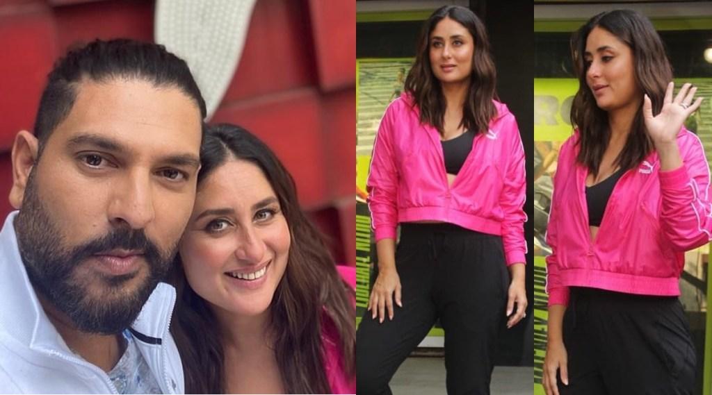 Yuvraj Singh Kareena Kapoor Khan Spot Selfie Mumbai Puma Store1