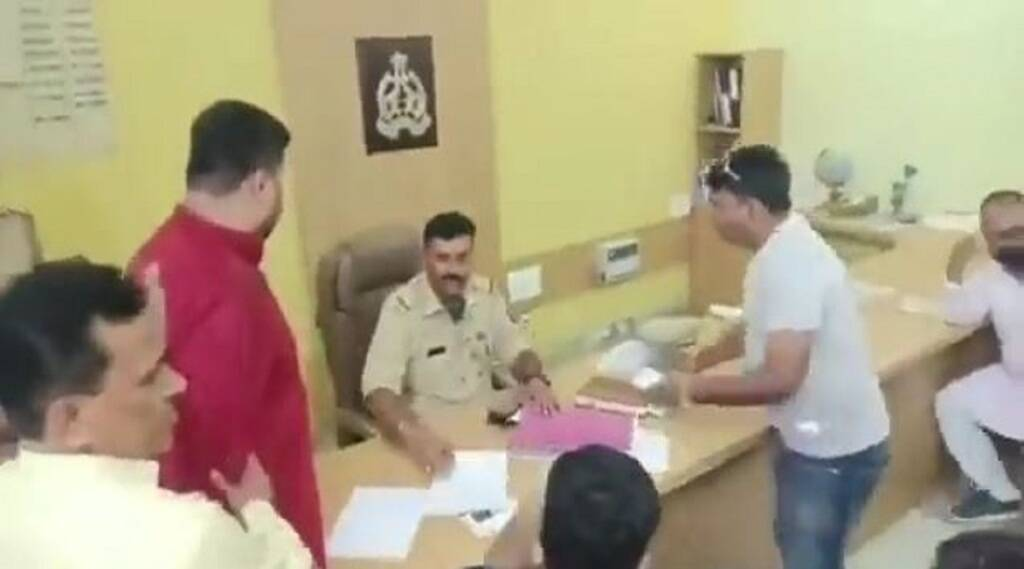 bjp leader manjhola police station moradabad, up crime, up bjp, up police