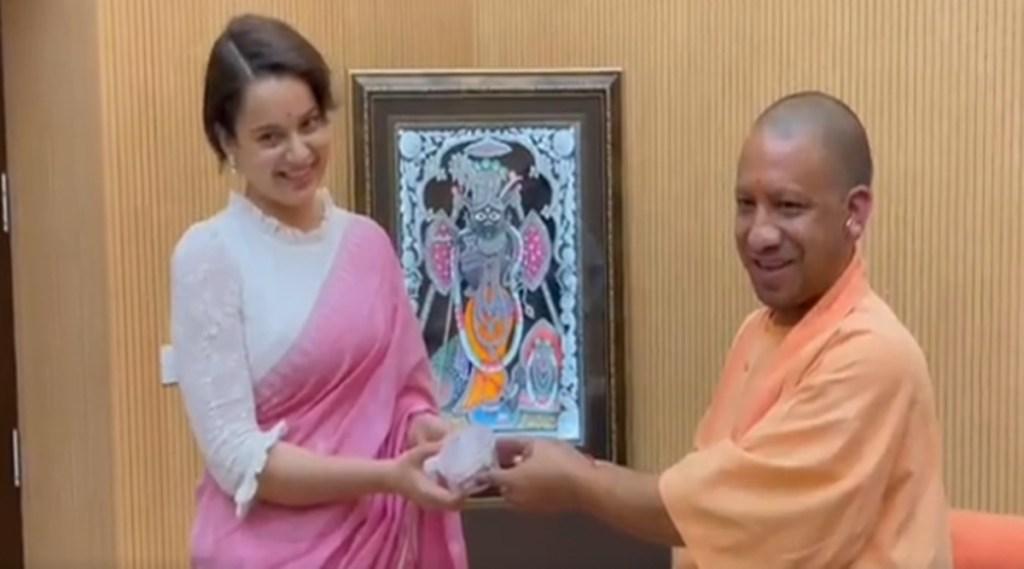 kangana ranaut, yogi adityanath, kangana meets yogi