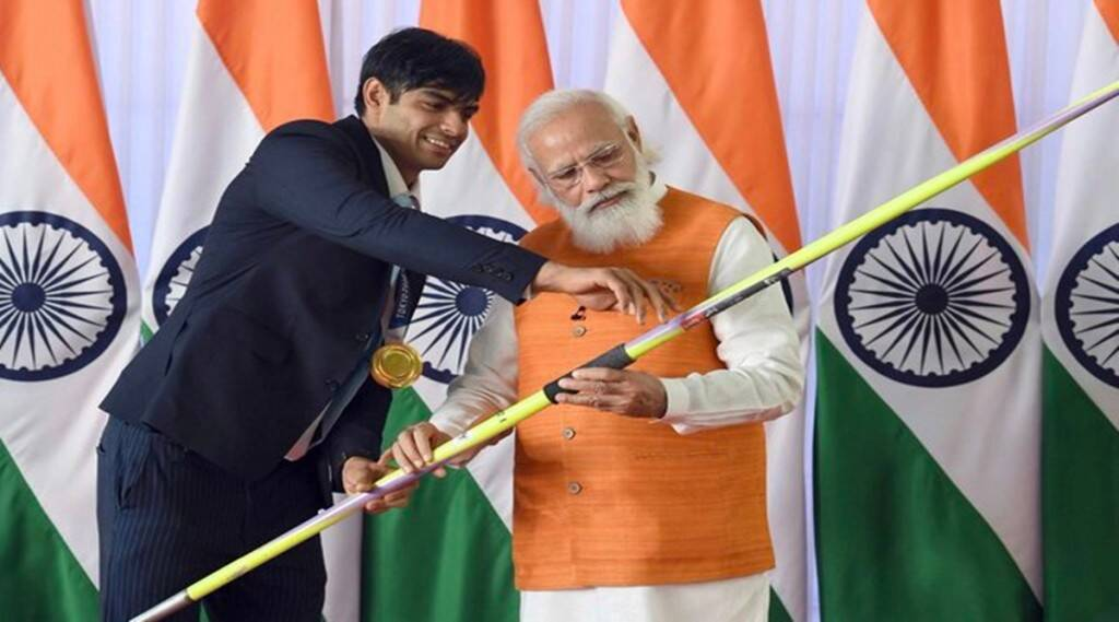 neeraj-chopra-javelin-gets-highest-money-in-pm-narendra-modi-e-auction-of-monuments-and-gifts-including-other-items-from-tokyo-olympic-medalists