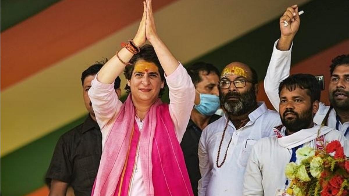 bjp spokesperson Sambit Patra shared video of Azan of Priyanka Gandhi Varanasi rally