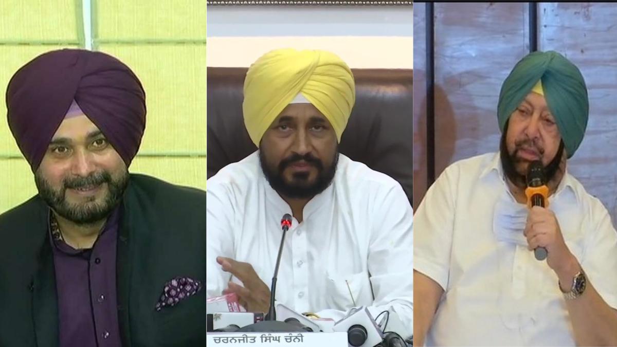 Punjab Congress Navjot Singh Sidhu met party leaders in Delhi CM Channi met Captain Amarinder Singh