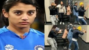 smriti-mandhana-forced-to-do-dance-as-jemimah-rodrigues-harmanpreet-kaur-radha-yadav-richa-ghosh-danced-on-in-da-getto-song-video