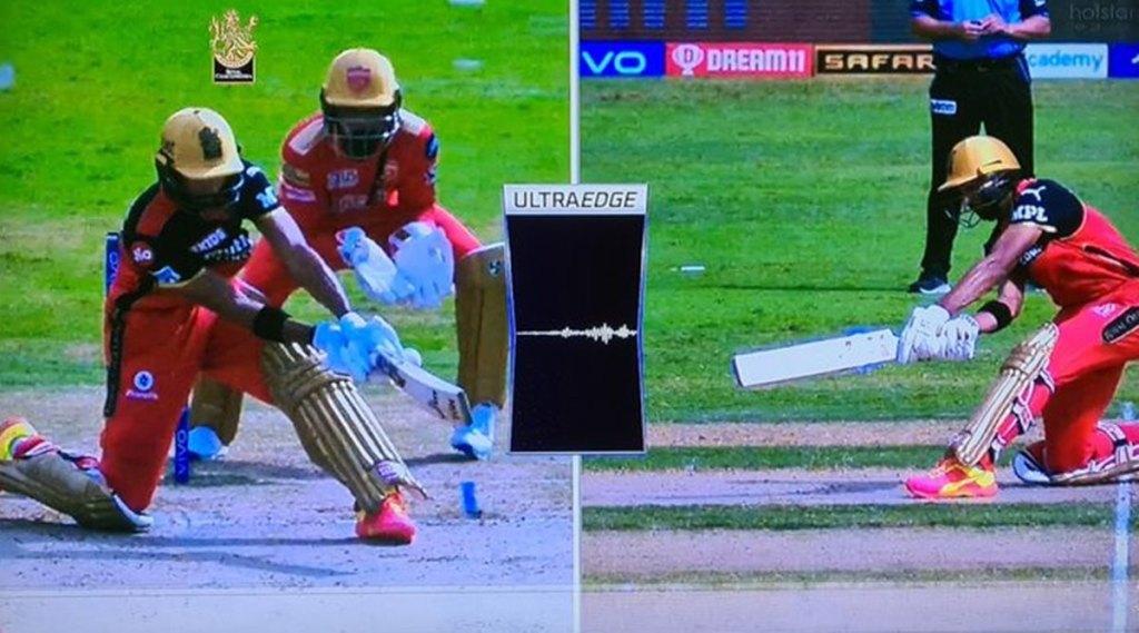 ipl-2021-third-umpire-gives-not-out-to-devdutt-padikkal-even-snickometer-shown-spike-kl-rahul-upset-rcb-vs-pbks-video