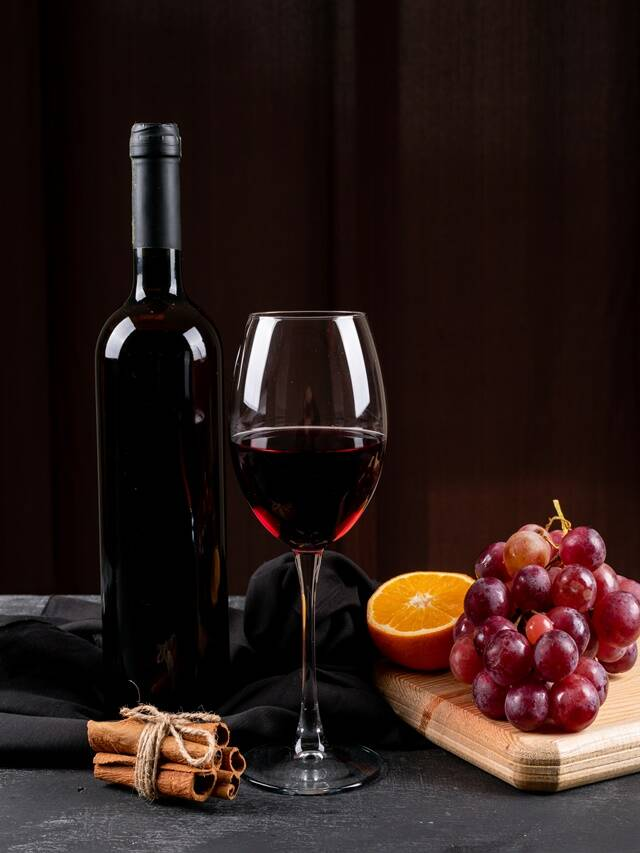 red wine for glowing face