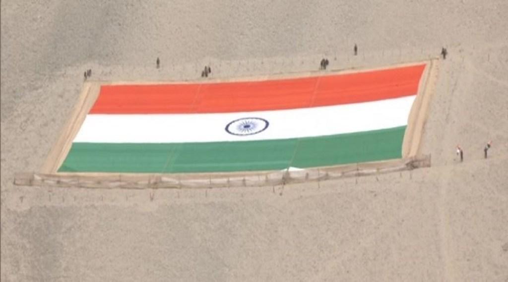 world largest tiranga, world largest Khadi national flag, leh, laddakh